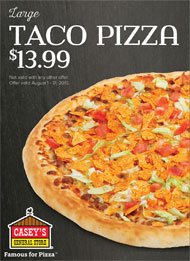 Casey's August Pizza Special